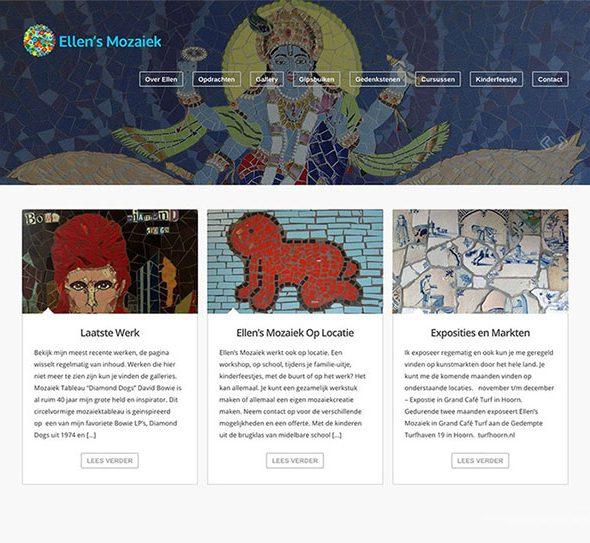 ellen's mozaiek portfolio website